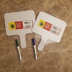 Double side Dry Erase paddle & marker sets NWT